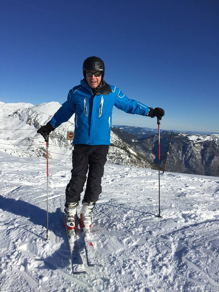 Apartments in alps. Winter holiday, skiing in Slovenia.