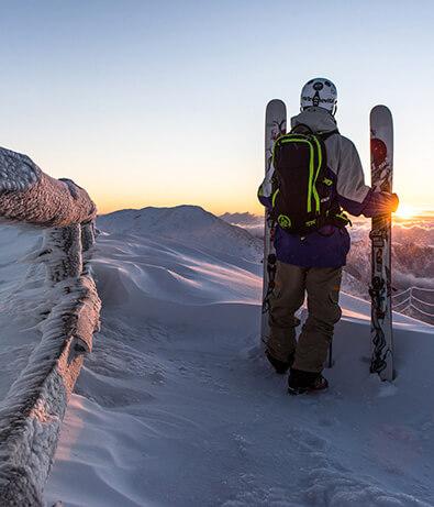 Winter holiday, skiing in Slovenia. Chalet Alpinka.
